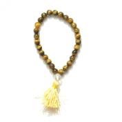 Odishabazaar Tiger Eye Elastic Japa Mala Bracelet 27+1 Beads Stone of Protection