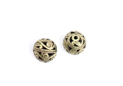 10 Pieces Jewellery Making Charms Pendant Ancient Bronze Colour Retro Findings Supplies GEAXBF6 Hollow Spacer Loose Beads