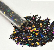 30ml Rainbow Dichroic Medium Frit Flakes on Black- 96 Coe ...