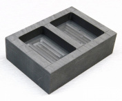 GRAPHITE INGOT mould MELT & POUR 150ml GOLD BARS 2.150ml SILVER 2 CAVITY MELTING KIT