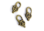 5 Pieces Jewellery Making Charms Pendant Ancient Bronze Colour Retro Findings Supplies GAO3BF7 Peace Symbol Lobster Clasp