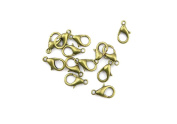 Price per 130 Pieces Jewellery Making Charms FOCE0 Lobster Clasp Ancient Bronze Findings Craft Supplies Bulk Lots