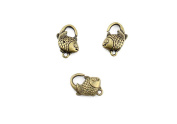 Price per 5 Pieces Jewellery Making Charms DFWC0 Fish Clasp Ancient Bronze Findings Craft Supplies Bulk Lots