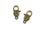 Price per 90 Pieces Jewellery Making Charms OLDO0 Lucky Lobster Clasp Ancient Bronze Findings Craft Supplies Bulk Lots