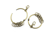 Price per 1 pieceJewelry Making Charms HSWM0 Big Small Rings Clasp Ancient Bronze Findings Craft Supplies Bulk Lots