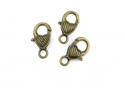 Price per 20 Pieces Jewellery Making Charms CDLB0 Heart Lobster Clasp Ancient Bronze Findings Craft Supplies Bulk Lots