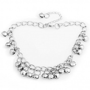 Ecloud ShopUS® Silver Tone Jingle Bell Anklet Ankle Bracelet Chain 8mm FASHION