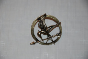 The Hunger Games Mockingjay Bronze Metal Pin Replica
