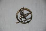 The Hunger Games Mockingjay Bronze Metal Pin Replica