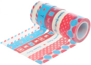HIART Repositionable Washi Tape I Love Paris Travelling Collection