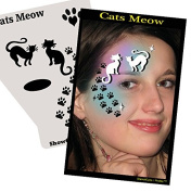 Face Painting Stencil - StencilEyes Profile Cat's Meow