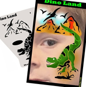 Face Painting Stencil - StencilEyes Profile Dino Land