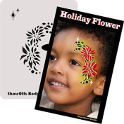 Face Painting Stencil - StencilEyes Profile Holiday Flower