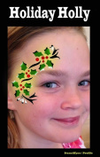 Face Painting Stencil - StencilEyes Profile Holiday Holly