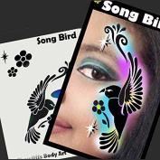 Face Painting Stencil - StencilEyes Profile Song Bird