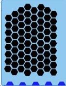Face Painting Stencil - QuickEZ/Honeycomb #33