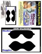 Face Painting Stencil - StencilEyes Sunglasses