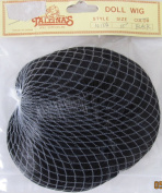 TALLINA'S Craft DOLL HAIR WIG Style #W104 Fits SIZE 25cm Colour BLACK Synthetic Fibre