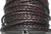 Bolo-4mm-round - Genuine Leather - In Packing of 1 Yard, 5 Yards & 10 Yards - Hank (5 Yards, Antique Dark Brown