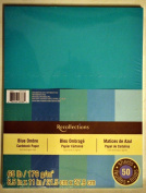 Recollections Cardstock Paper, Blue Ombre 8 1/2 x 11