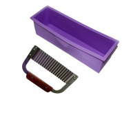 The MS Store Pro. Soap Silicone Mould Loaf Wavy Stainless Steel Soap Cutter Slicer Makes