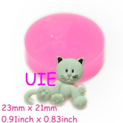067LBD Naughty Cat Silicone Push Mould Dollhouse Clay Push Mould Scrapbooking Mould Polymer Clay Charms