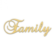 25cm (Family) Script Cursive Text Word Unfinished DIY Craft Cutout to Sell Ready to Paint Wooden Stacked