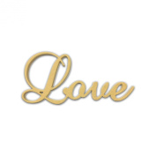 25cm (Love) Script Cursive Text Word Unfinished DIY Craft Cutout to Sell Ready to Paint Wooden Stacked