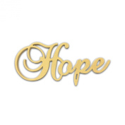 25cm (Hope) Script Cursive Text Word Unfinished DIY Craft Cutout to Sell Ready to Paint Wooden Stacked