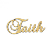 25cm (Faith) Script Cursive Text Word Unfinished DIY Craft Cutout to Sell Ready to Paint Wooden Stacked