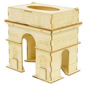 Tissue Case of Wooden Art Ki-gu-mi Arc De Triomphe