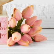 Bundle of 6 Real Touch Mini Pink Tulip