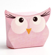 10 Small Pink Owl Gift Boxes / Baby Shower Boxes / Wedding Favours - 35mm x 35mm x 25mm