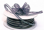 """3mm-1/8"""" Organza Pull Bow Ribbon Navy Blue 50Yd"""
