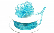 "3mm-1/8"" Organza Pull Bow Ribbon Turquoise 50yd"