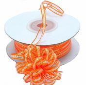 """3mm-1/8"""" Organza Pull Bow Ribbon Orange 50yd"""