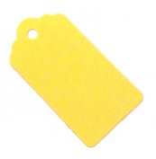 20 Medium Yellow Gift Tags / Wedding Tags / Hang Tags / Favour Tags - 67mm x 35mm