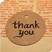 QINF 50pcs Thank You DIY Kraft Bonbonniere Gift Paper Hang Tags Lables Bakery Packaging Favours Wedding Cards