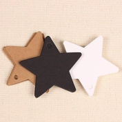QINF Kraft Paper Star Hang Tags Lables for Bookmark Gift Bakery Packaging Favours Wedding Party Price Cards