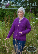 0032 - Amelia - Knitting Pattern By Woolyknit | Worsted (Aran) Knit Pattern | Womans Cardigan