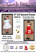 46cm Doll Seasonal Dresses - In the Hoop - Machine Embroidery Designs