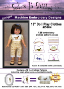 46cm Doll Play Clothes - In the Hoop - Machine Embroidery Designs