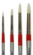 Chungking Pro White Bristle Interlocked Round Brush Set Sizes 2,4,6,8