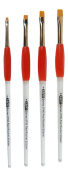Red Rocket Easy Comfort Grip Short Shader Brush Set Sizes 2,4,6,8