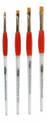 Red Rocket Easy Comfort Grip Short Shader Brush Set Sizes 2,4,6,8