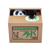 Airstomi Stealing Coins Cute Panda Money Box Piggy Bank