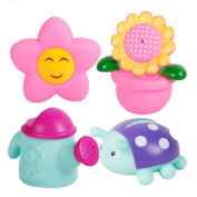 Kangkang@ 4 Creative Lovely Flower/water Can/sun Wonderful Baby Squirt Bathtub Toys Baby Bath Water Spray Toy Duck Watering Pot Suit Children Play Swimming Beach