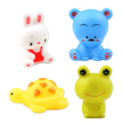 Kangkang@ Bathtub Toys Lovely Colourful Float Toys Squirt Water Toys Aby Infant Children's Bath Water Bath Toys Spray Pinching Called Four Pack