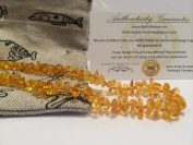 32cm Baltic Amber Teething Necklace for Toddler (Unisex) - Lemon Yellow Anti Flammatory, Drooling & Teething Pain Reduce Properties - Growing Pains. Certificated Natural Oval Baltic Jewellery with the Highest Quality Guaranteed. Easy to Fastens with ..