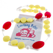 Soothing Bites Flora - Silicone Bead Teething Necklace For Mom - BPA Free Food Grade Silicone To Soothe Baby Gum Pain